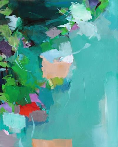 Ute Laum, Viridescence, Landschaft: Frühling, Diverse Pflanzen, Abstrakte Kunst, Expressionismus
