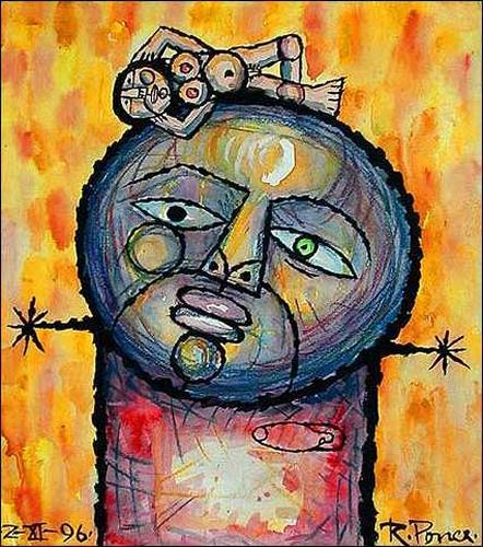 Ricardo Ponce, El prendado, Mythologie, Skurril, Abstrakter Expressionismus