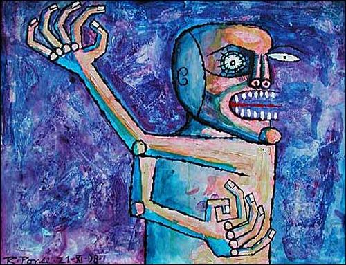 Ricardo Ponce, O/T, Gefühle: Aggression, Menschen: Mann, Abstrakter Expressionismus