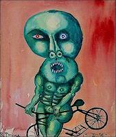 R. Ponce, El ciclista verde