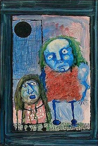 Ricardo Ponce, Retrato doble o las dos lesbianas, Poesie, Menschen: Familie, Expressionismus