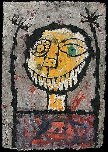Ricardo Ponce, La sonrisa del loco, Party/Feier, Humor, Abstrakter Expressionismus