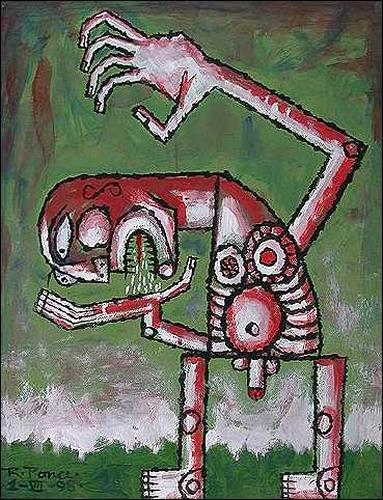 Ricardo Ponce, De la serie: Manicomio particular, Skurril, Diverse Gefühle, Abstrakter Expressionismus