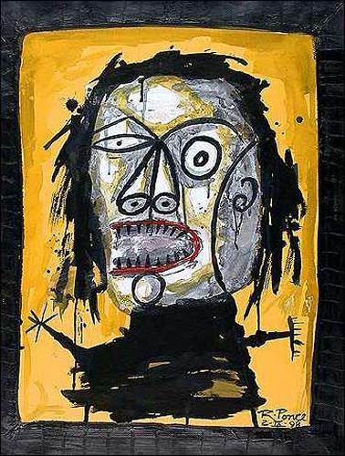 Ricardo Ponce, De la serie: Manicomio paricular, Skurril, Gefühle: Aggression, Abstrakter Expressionismus