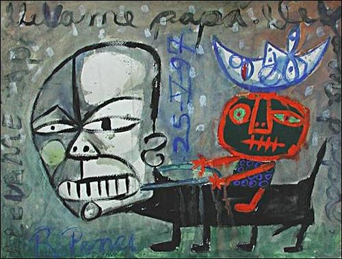 Ricardo Ponce, O/T, Symbol, Skurril, Symbolismus, Abstrakter Expressionismus