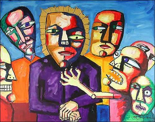 Ricardo Ponce, O/T, Religion, Menschen: Gruppe, Symbolismus, Abstrakter Expressionismus