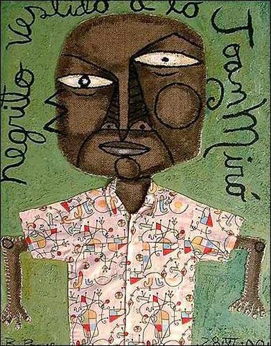 Ricardo Ponce, Negrito Vestido A Lo Joan Miró, Menschen: Porträt, Humor, Neo-Expressionismus, Expressionismus