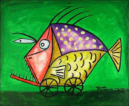 Ricardo Ponce, Pez Rodante, Tiere: Wasser, Humor, Symbolismus, Expressionismus
