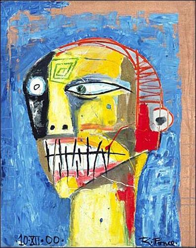 Ricardo Ponce, O/T, Tod/Krankheit, Skurril, Abstrakter Expressionismus