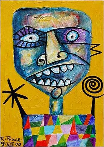 Ricardo Ponce, Arlequin, Zirkus: Clown, Humor, Pop-Art, Expressionismus