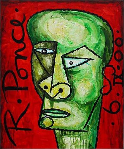 Ricardo Ponce, Cabeza, Menschen: Porträt, Menschen: Mann, Kubismus, Expressionismus