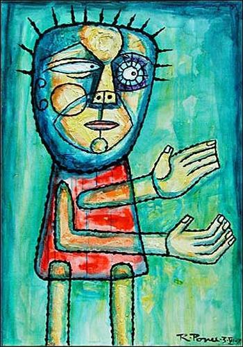 Ricardo Ponce, Bondad, Bewegung, Menschen: Mann, Naive Kunst, Expressionismus