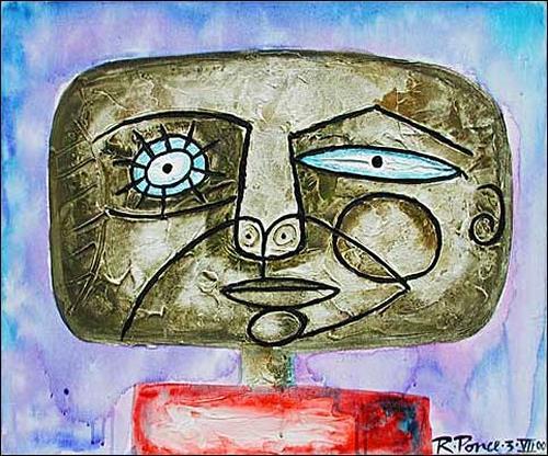 Ricardo Ponce, Cabeza, Menschen: Porträt, Menschen: Mann, Expressionismus