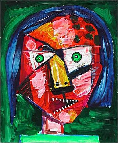 Ricardo Ponce, O/T, Menschen: Frau, Gefühle: Aggression