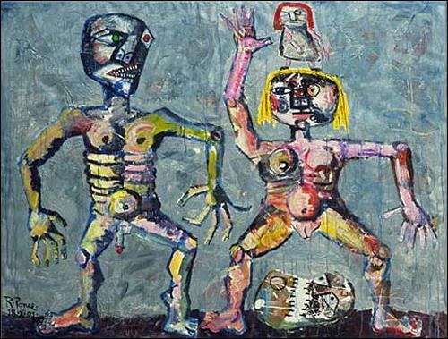 Ricardo Ponce, O/T, Menschen: Familie, Skurril, Abstrakter Expressionismus