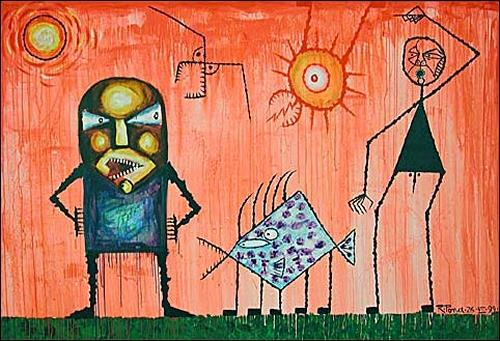 Ricardo Ponce, En El Dia Rosado, Situationen, Mythologie, Expressionismus