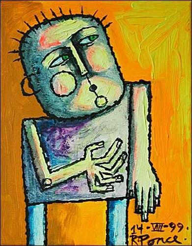 Ricardo Ponce, O/T, Menschen: Mann, Expressionismus