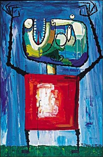 Ricardo Ponce, O/T, Gefühle: Aggression, Menschen: Mann, Expressionismus