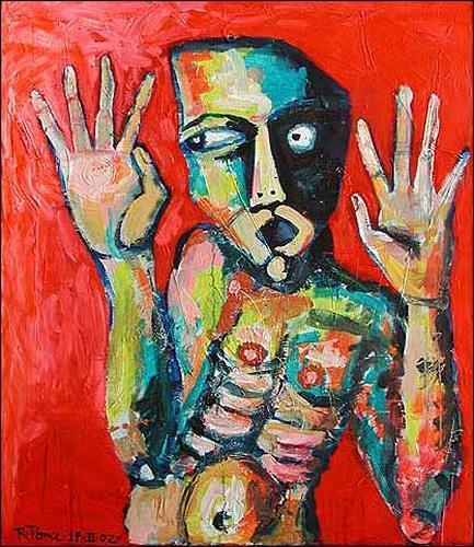 Ricardo Ponce, O/T, Gefühle: Angst, Menschen: Mann, Abstrakter Expressionismus