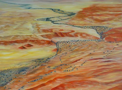 Theresia Züllig, Flug über Namibia, Natur: Erde, Landschaft: Ebene, Naturalismus