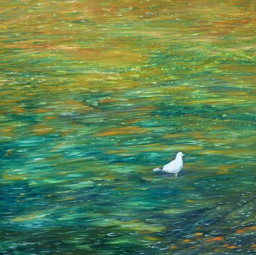 Theresia Züllig, Schottlandimpression, Landschaft: Ebene, Natur: Erde, Naturalismus, Expressionismus