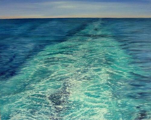 Theresia Züllig, wegfahren, Landschaft: See/Meer, Natur: Wasser, Naturalismus