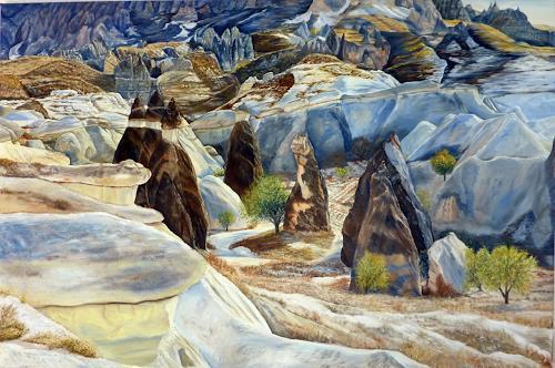 Theresia Züllig, Kappadokien, Landschaft: Hügel, Natur: Gestein, Naturalismus, Expressionismus