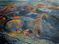 Theresia-Zuellig-Natur-Feuer-Landschaft-Huegel-Moderne-Naturalismus