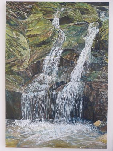 Theresia Züllig, 2 Wasserläufe treffen sich, Landschaft: See/Meer, Natur: Wasser, Naturalismus