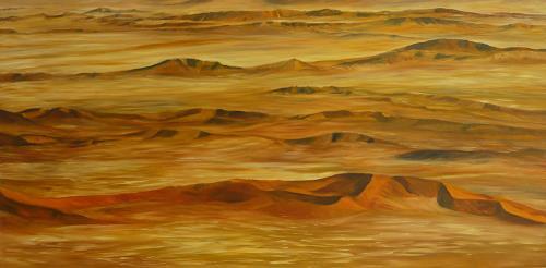 Theresia Züllig, namibsche Wüstenlandschaft, Landschaft: Hügel, Natur: Erde, Naturalismus