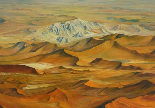 Theresia Züllig, namib.Wüste, Natur: Erde, Landschaft: Hügel, Naturalismus