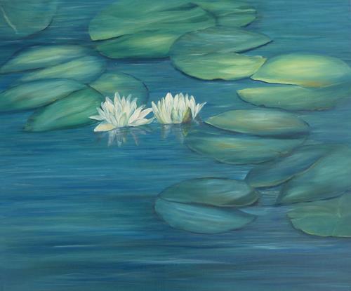 Theresia Züllig, Seerosenpaar, Landschaft: Sommer, Natur: Wasser, Naturalismus