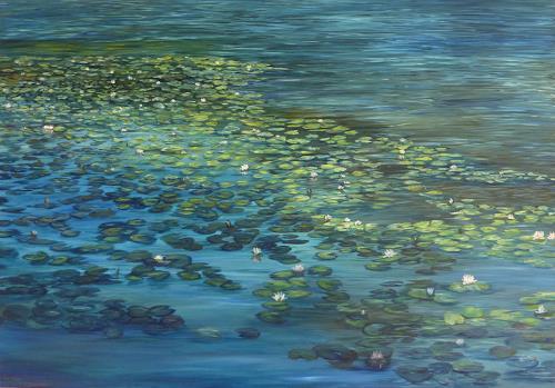 Theresia Züllig, Seerosenlandschaft, Landschaft: Sommer, Natur: Wasser, Naturalismus