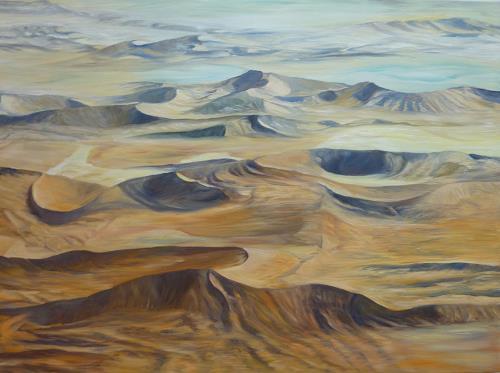 Theresia Züllig, Wüstenlandschaft Namibia, Natur: Erde, Landschaft: Hügel, Naturalismus