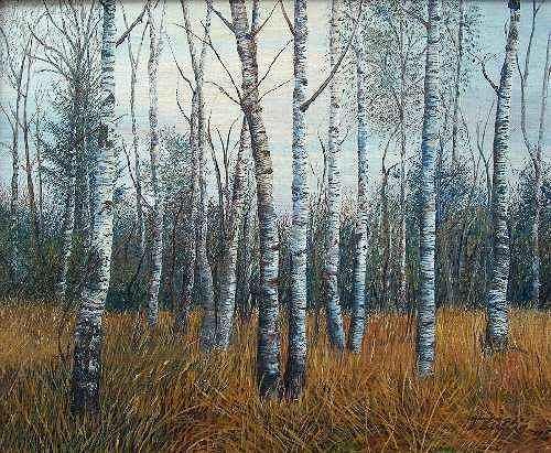 Theresia Züllig, Birkenwald, Natur: Wald, Natur: Wald, Naturalismus, Naturalismus