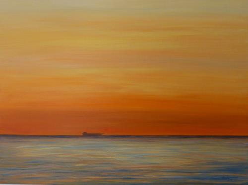 Theresia Züllig, Sehnsucht, Landschaft: See/Meer, Romantik: Sonnenuntergang, Naturalismus