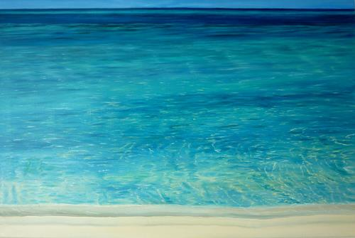 Theresia Züllig, am indischen Meer, Natur: Wasser, Landschaft: See/Meer, Naturalismus