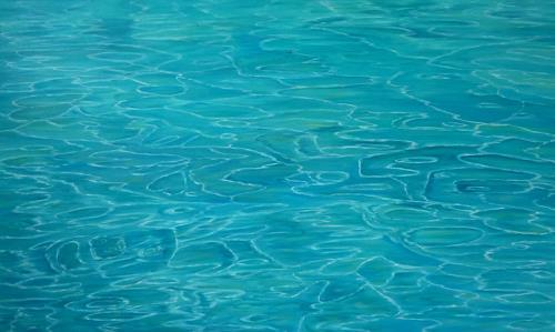 Theresia Züllig, Lichtspiele auf dem Ozean, Landschaft: See/Meer, Natur: Wasser, Naturalismus