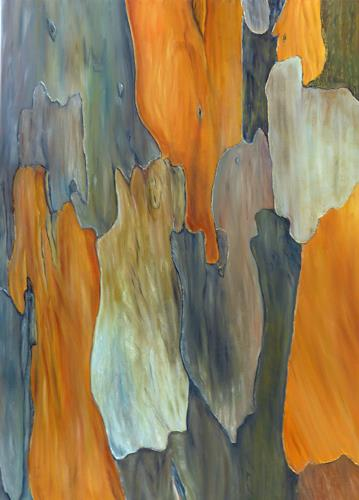 Theresia Züllig, Kamelienrinde, Pflanzen: Bäume, Natur: Diverse, Naturalismus