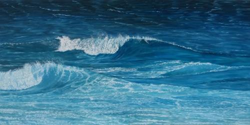 Theresia Züllig, Wellen am Mittelmeer, Landschaft: See/Meer, Natur: Wasser, Naturalismus
