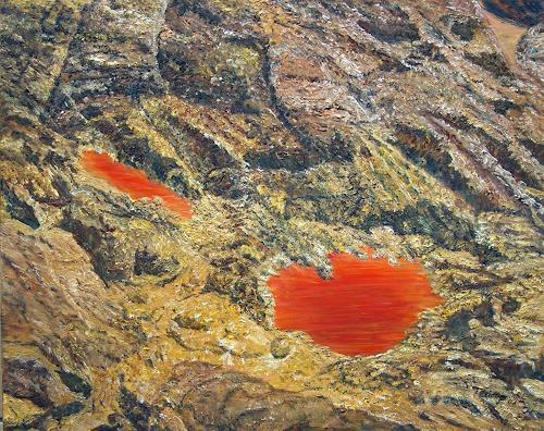 Theresia Züllig, Schwefelseeli, Natur: Gestein, Landschaft: Berge, Naturalismus, Abstrakter Expressionismus