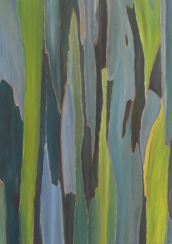 Theresia Züllig, blaue Rinde, Pflanzen: Bäume, Natur: Diverse, Naturalismus