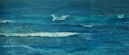 Theresia Züllig, Wellenspiel auf Korsika, Natur: Wasser, Landschaft: See/Meer, Naturalismus