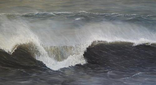 Theresia Züllig, Sturmwelle Korsika, Natur: Wasser, Landschaft: See/Meer, Naturalismus, Expressionismus