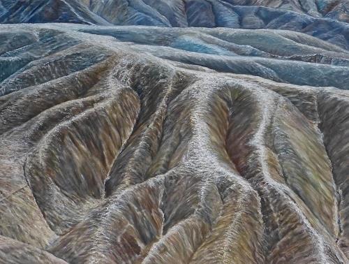 Theresia Züllig, Licht über Sandhügel (USA), Natur: Erde, Landschaft: Hügel, Naturalismus, Expressionismus