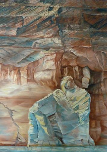 Theresia Züllig, Steinfiguren am Lake Powell, Natur: Gestein, Landschaft: See/Meer, Naturalismus