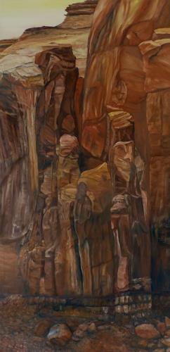 Theresia Züllig, Figuren Steinwand Monument Vally USA, Natur: Gestein, Diverse Landschaften, Naturalismus