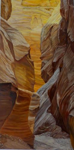 Theresia Züllig, Spaziergang durch Canyon, Natur: Erde, Landschaft: Hügel, Naturalismus