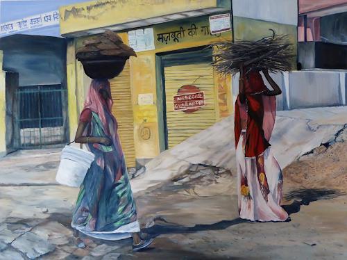 Theresia Züllig, graziöse Frauen Indien, Menschen: Frau, Diverse Menschen, Naturalismus
