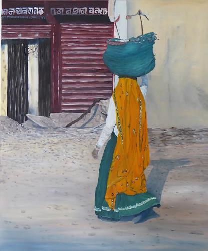 Theresia Züllig, indische Frau, Menschen: Frau, Diverse Menschen, Naturalismus